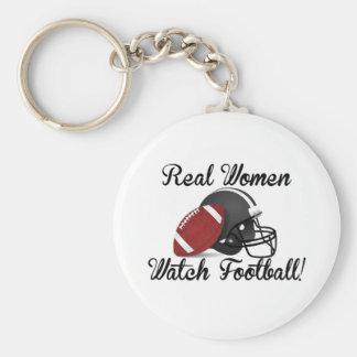 ¡Fútbol del reloj de las mujeres reales! Llavero Personalizado