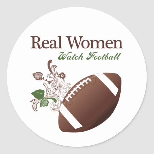 Fútbol del reloj de las mujeres reales pegatina redonda