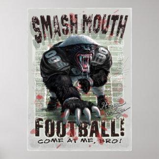 Fútbol del tejón de miel póster