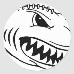 Fútbol del tiburón pegatinas