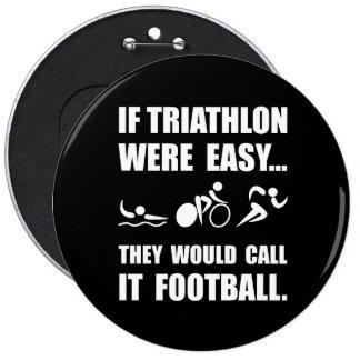 Fútbol del Triathlon Pin Redondo 15 Cm