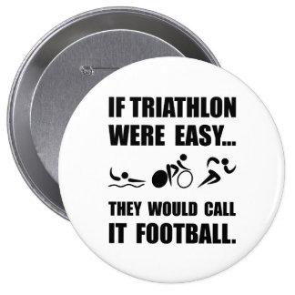 Fútbol del Triathlon Pin Redondo 10 Cm