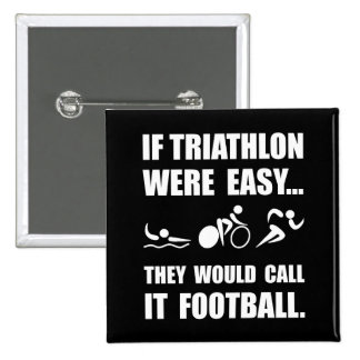 Fútbol del Triathlon Pin Cuadrada 5 Cm