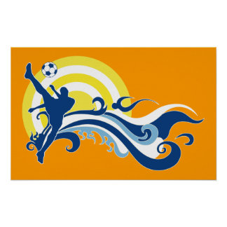 fútbol del verano póster