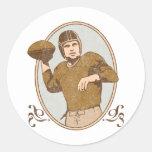 Fútbol del vintage pegatinas redondas