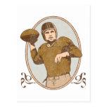 Fútbol del vintage postal