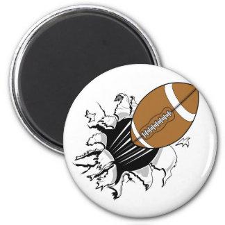 Fútbol del vuelo imán redondo 5 cm
