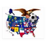 Fútbol Eagle de Estados Unidos los E.E.U.U. Postales