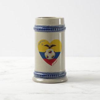 """Fútbol """"ECUADOR"""". Ecuadorian National Soccer Team Jarra De Cerveza"""