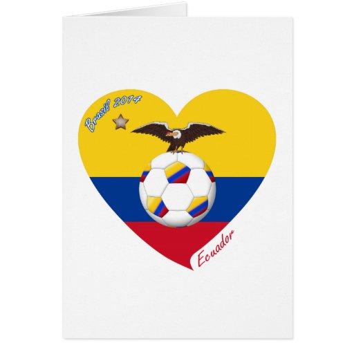 """Fútbol """"ECUADOR"""". Ecuadorian National Soccer Team Felicitacion"""