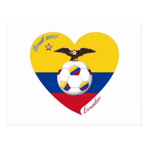 "Fútbol ""ECUADOR"". Ecuadorian National Soccer Team Tarjetas Postales"