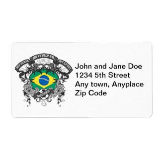 Fútbol el Brasil Etiquetas De Envío