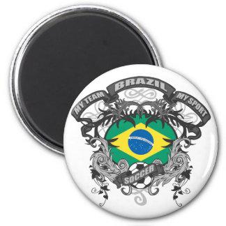 Fútbol el Brasil Imán Redondo 5 Cm