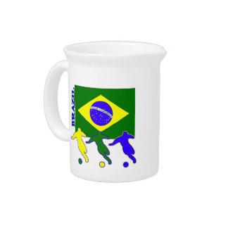 Fútbol el Brasil Jarrones