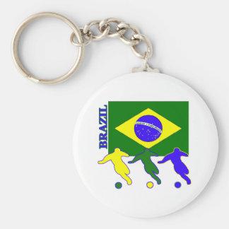 Fútbol el Brasil Llaveros