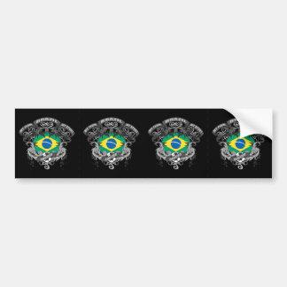 Fútbol el Brasil Pegatina Para Auto