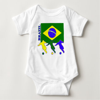 Fútbol el Brasil Playera