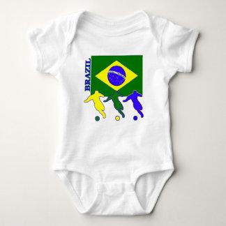 Fútbol el Brasil Remera