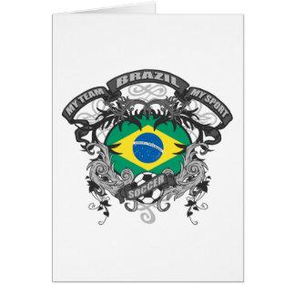 Fútbol el Brasil Tarjeta De Felicitación