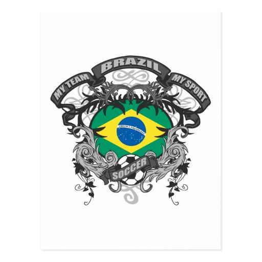 Fútbol el Brasil Postal