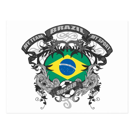 Fútbol el Brasil Postales