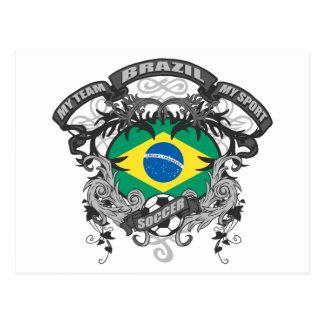 Fútbol el Brasil Tarjetas Postales