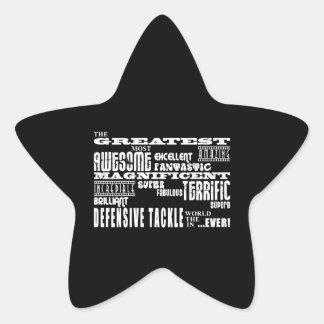 Fútbol: El tackle defensivo más grande Calcomanía Forma De Estrellae