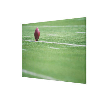 Fútbol en camiseta lienzo envuelto para galerías