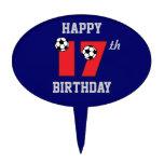 Fútbol en el 17mo cumpleaños del rojo decoraciones para tartas