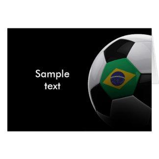 Fútbol en el Brasil Tarjeta