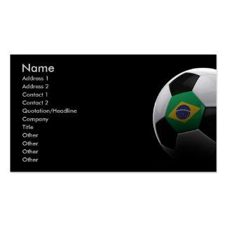 Fútbol en el Brasil Tarjetas De Visita
