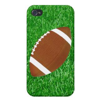Fútbol en el césped iPhone 4 carcasas