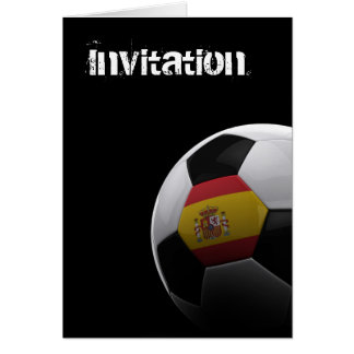 Fútbol en España - TARJETA de INVITIATION