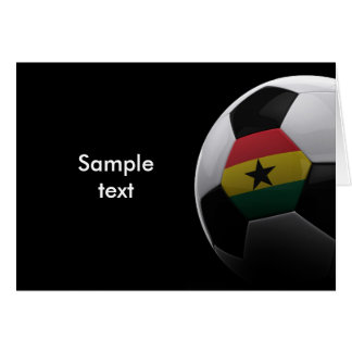 Fútbol en Ghana Tarjeta