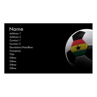Fútbol en Ghana Tarjetas De Visita