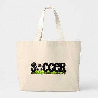 Fútbol (en hierba) bolsa lienzo