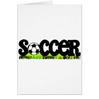 Fútbol (en hierba) tarjeta de felicitación