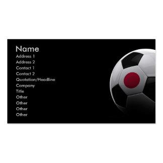 Fútbol en Japón Tarjetas De Visita