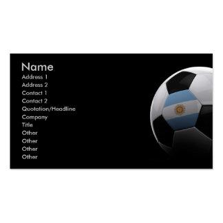 Fútbol en la Argentina Tarjetas De Visita