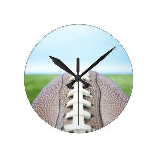 Fútbol en la hierba 2 relojes de pared