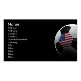 Fútbol en los E E U U Tarjetas Personales
