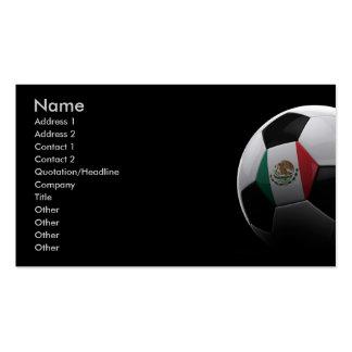 Fútbol en México Plantillas De Tarjetas Personales