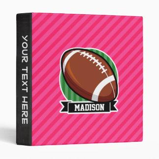 """Fútbol en rayas rosadas verdes y de neón carpeta 1"""""""