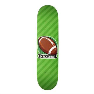 Fútbol en rayas verdes patineta personalizada