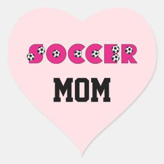 Fútbol en rosa con los balones de fútbol calcomanía de corazón