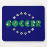 Fútbol en verde tapetes de ratón