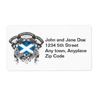 Fútbol Escocia Etiqueta De Envío