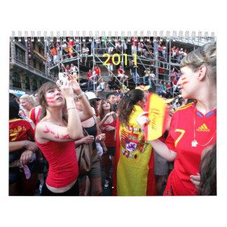fútbol España 2011 Calendarios De Pared