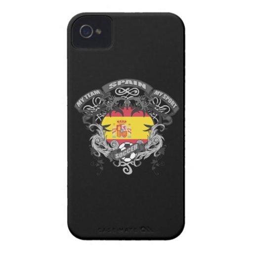 Fútbol España iPhone 4 Case-Mate Cobertura
