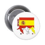 Fútbol España Pin Redondo De 2 Pulgadas